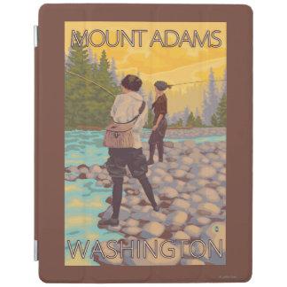 Women Fly Fishing - Mount Adams, Washington iPad Cover