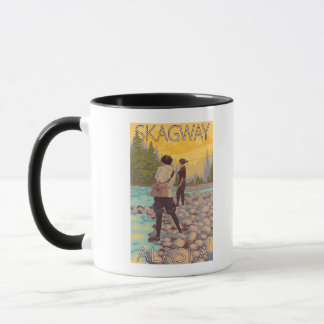 Women Fly Fishing - Skagway, Alaska Mug