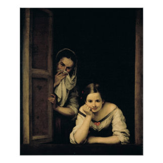 Women from Galicia at the Window, 1670 Poster