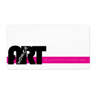 Women in Art: Sticker Label Shipping Label