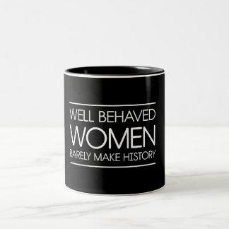 Women In History Two-Tone Coffee Mug