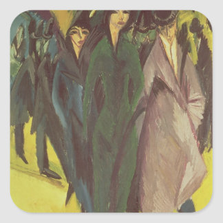 Women on the Street, 1915 Square Sticker