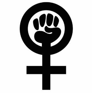Women Power Symbol Standing Photo Sculpture