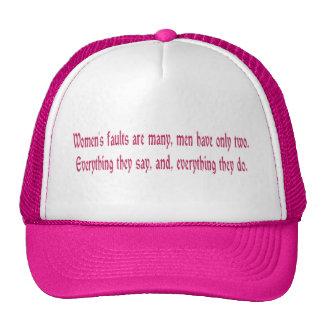 Women s Faults Are Many Trucker Hat