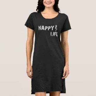 Women's Nappy Life Short Sleeve Dress w/White Logo