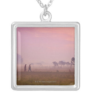Women Villagers Silver Plated Necklace
