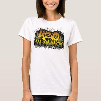 Womens 420am Rasta Weed T-Shirt