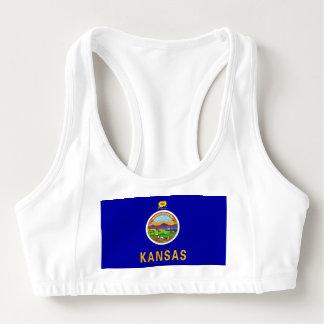 Women's Alo Sports Bra with flag of Kansas