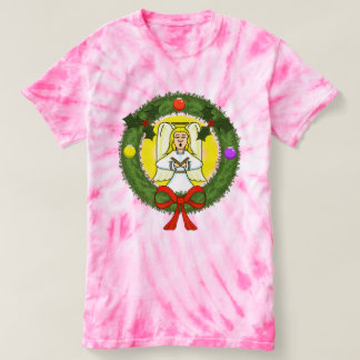 Women's Angel in Wreath Tie-Dye T-Shirt
