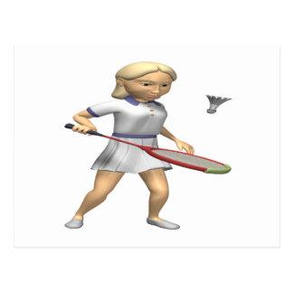Womens Badminton Postcard