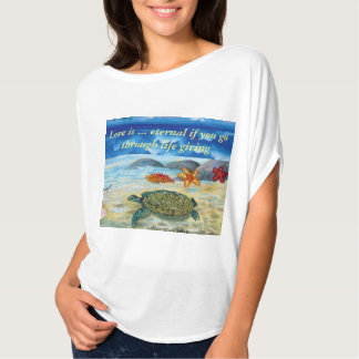Women's Bella+Canvas Flowy Circle Top, White T-Shirt