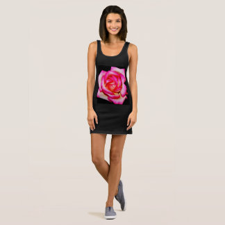 "Women's Black Jersey ""Rose"" Tank Dress"