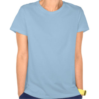 Women's Blue Spah with Blk Text Tee Shirt