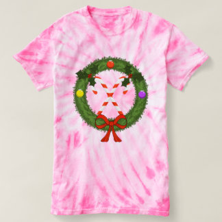Women's Candy Cane Tie-Dye T-Shirt