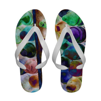Women's Crayon Abstract Sandals