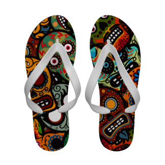 Women's Day Of The Dead Sandals