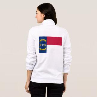 Women's  Fleece Zip Jogger flag of North Carolina