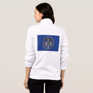 Women's  Fleece Zip Jogger flag of Utah