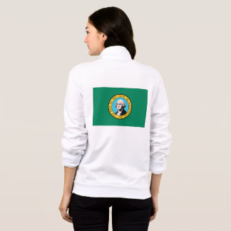 Women's  Fleece Zip Jogger Washington State flag