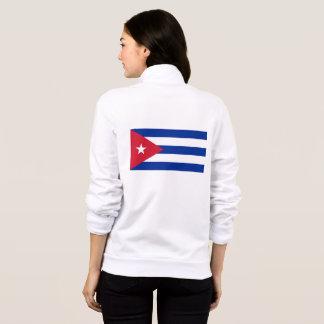 Women's  Fleece Zip Jogger with flag of Cuba