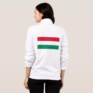 Women's  Fleece Zip Jogger with flag of Hungary