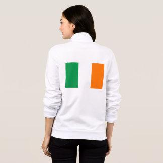 Women's  Fleece Zip Jogger with flag of Ireland