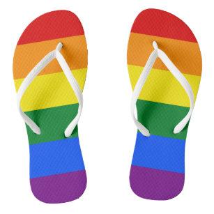 Womens Flip Flops - Pride Colours