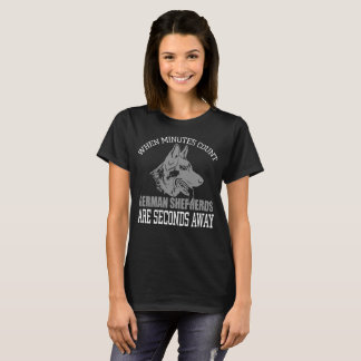 Women's German Shepherd Black T-Shirts
