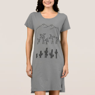Women's Green Landscape T-Shirt Dress