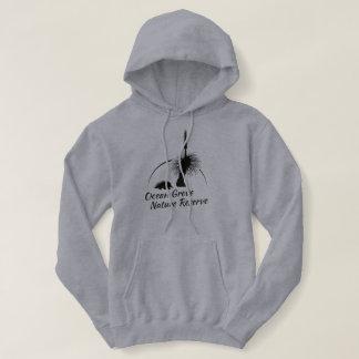 Womens Grey Hooded Jumper, Black OGNR Logo Hoodie