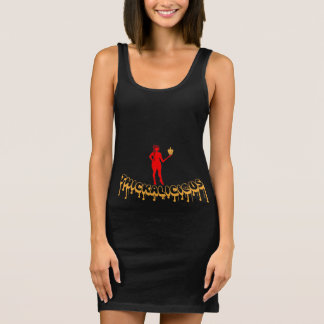 Women's Jersey Tank Dress Black Thickalicious