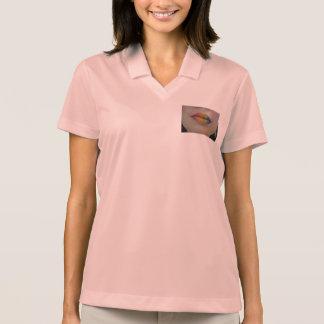 women's lips design polo shirt