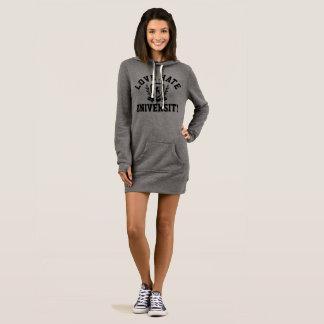 Women's LOVE HATE UNIVERSITY Hoodie-Dress Dress