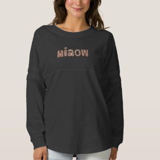 Women's oversized T-shirt with 'miaow'