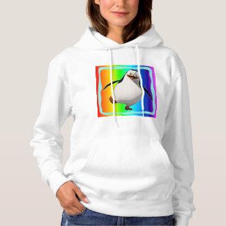 Women's penguin design hooded sweatshirt