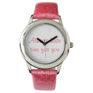 Women's Pink Glitter Watch