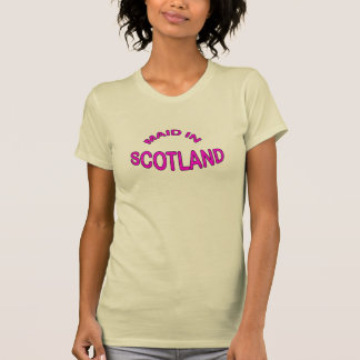 Womens Pink Maid Made in Scotland T-Shirt