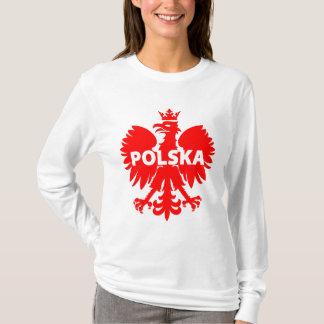 Women's Poland Polska Eagle Long Sleeve T-Shirt