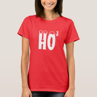 Women's Red Ho cubed T-Shirt