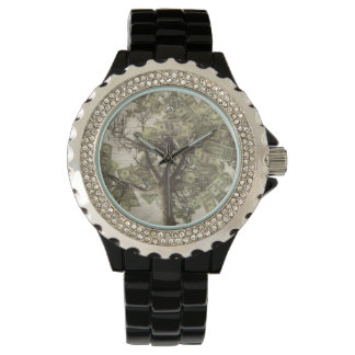 Women's Rhinestone Mind over Money Wrist Watch