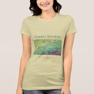Women's Soft Cream T-shirt: Seashore Art / Text V2 T-Shirt