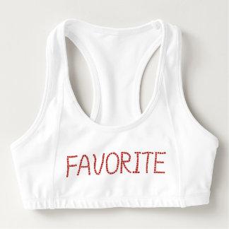 Women's sports bra with 'favorite'