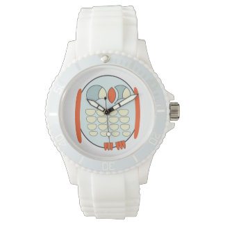 Women's Sporty White Silicon Watch - BABY OWL