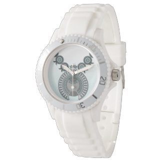 Women's Sporty White Silicon Watch SQUASH BLOSSOM