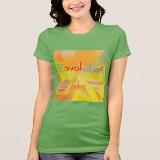 Women's T-shirt: ReLOVEution Green Orange Gold T-Shirt
