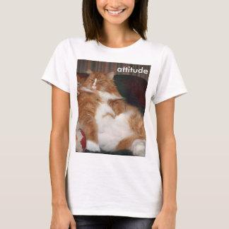 Women's T-shirt Short Sleeve Maine Coon Attitude