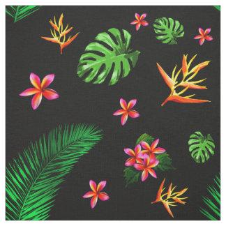 Women's Trendy Tropical Flower Leaves Home Decor Fabric