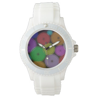 Women's watch with neon wheels.