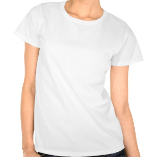 Womens White T-Shirt RED TEXT