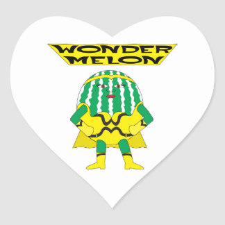 Wonder Melon Heart Sticker